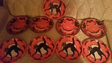 8 VINTAGE STYLE-BEISTLE-HALLOWEEN PAPER PLATES-BLACK��CATS-1928-REPRO-LOW SHIP!