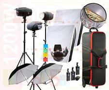 1200W  Photography Studio Strobe Flash Light Softbox & Trigger Kit