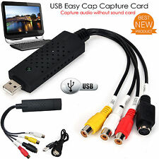 NUOVA PAC facile VHS DVD AUDIO VIDEO Converter Capture card / scheda di rete USB UK STOCK
