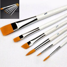 Pro 6Stk Kosmetik Pinsel Acryl Öl Aquarell Pen Makeup Brush DIY Nagel Set FS