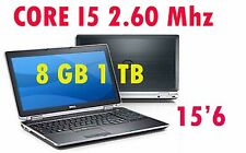 DELL LATITUDE E 6520 CORE I5 2.60 MHZ 8 GB 1TB 15.6 CON WINDOWS 7 PRO GARANZIA 1