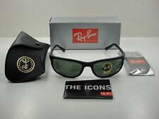 RAY-BAN PREDATOR 2 SUNGLASSES RB2027 W1847 BLACK FRAME/GREEN CLASSIC LENS 62MM