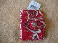 "Vera Bradley Snappy Wallet rosy posies id holder CC slots zippers 5.5"" X 4"""