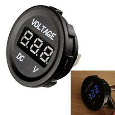 HS Waterproof 12V-24V Car Motorcycle Blue LED DC Digital Display Voltmeter Meter