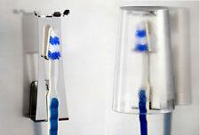 Halter für Zahnputzbecher, Zahnbürste=staubgeschützt