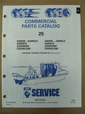 1991 Johnson Evinrude EI 25 HP Commercial Outboard Motor Parts Catalog 434238