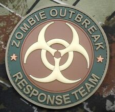GLOW PVC ZOMBIE HUNTER OUTBREAK RESPONSE MULTICAM VELCRO® BRAND FASTENER PATCH