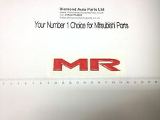 GENUINE MITSUBISHI EVOLUTION MR BOOT BADGE RALLIART LANCER 8 & 9 SR010174