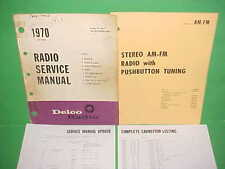 1970 CORVETTE CAMARO FIREBIRD GTO 442 DELCO AM-FM STEREO RADIO SERVICE MANUAL 70