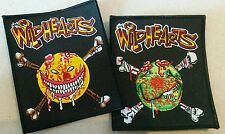 The Wildhearts Embroidered Patch set Yellow + Green Smiley Bones Punk Almighty
