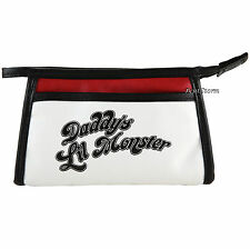 Suicide Squad Daddy's Lil Monster Cosmetic Make-Up Bag Harley Quinn DC Comics