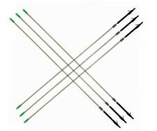 6pcs Mix Carbon Fishing Arrows 6mm Diameter 85L 65g for Outdoor Fishing Hunting
