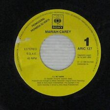 """Mariah Carey Spanish 7"""" SP One side Promo I'll be there CBS 1992"""