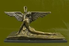 ART DECO NOUVEAU Bronze LEDA UND SCHWAN Sculpture Home Deco Figurine Large DB