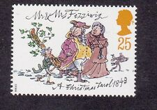 GB Charles Dickens-Mr & Mrs fizziwig-a Christmas Carol - 1993 25p STAMP Gomma integra, non linguellato