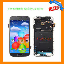 Blue LCD Touch Screen Digitizer Assembly +Frame For Samsung Galaxy S4 I9500 USA