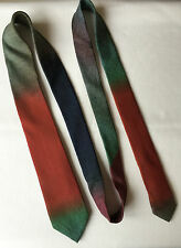 PAUL SMITH 100% WOVEN SILK OMBRE EFFECT NARROW/SLIM TIE MADE IN ITALY