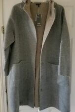 Eileen Fisher Woman plus Moon Alpaca Snap Closure Hooded K/L Coat size 2x