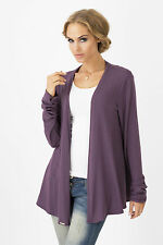 Womens Cardigan Practical Style Jumper Creases Sleeve Blazer Size 10-12 FA345