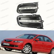1Pair LED Daytime Running Fog Lights Lamps DRL For Mazda6 2005-2009 Facelift