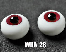 New 16mm Rose Red Glass BJD Eyes for MSD DOD DZ AOD Volks Dollfie Outfits