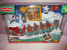 NEW Fisher Price Little People Twas The Night Before Christmas Story Set