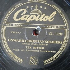 78rpm TEX RITTER onward christian soldiers / the fiery bear