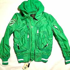 NEW ALPHA INDUSTRIES LIQUID RACER NEON GREEN FLIGHT BOMBER JACKET XS EXTRA SMALL