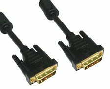 GP998 DVI-D Male to M Dual Link Display Cable Lead 2 Metres Gold Contacts 28 AWG