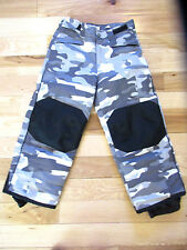 CHEROKEE Youth Winter Snow Ski Pants Insulated Black/Grey Camo X-Small