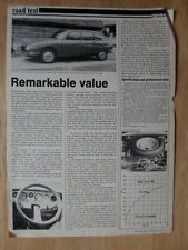 CITROEN GS G SPECIAL orig 1977 UK Mkt Road Test Brochure