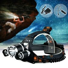 6000 Lumen CREE XM-L T6 + 2R5 LED Headlamp Headlight Light 18650 US Charger Grea