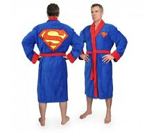 Superman Men's Luxury Bathrobe DC Comics Sauna Coat Polyester neu
