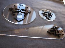 Warhammer 40K 40000 Blast Templates Pack Space Chaos Marines Iron Warriors