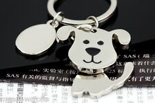 Dog Keyring NEW with Gift Box - UK Seller  Silver Face