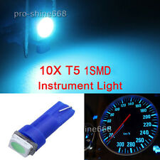 10X T5 5050 1SMD Ice Blue 58 70 73 74 Dashboard Gauge LED Wedge Lamp Bulb Light