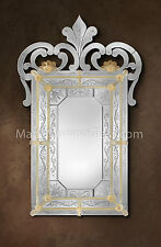 SPECCHIO IN VETRO DI MURANO.CM 167 x 104  MIRROR GLASS MURANO.Made Murano Glass.