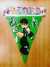 ♛ Shop : 1pc Ben 10 Banderitas Banner Theme Party Decor Needs