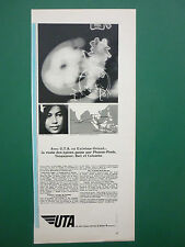 5/1968 PUB COMPAGNIE AERIENNE UTA AIRLINE INDONESIA BALI COLOMBO FRENCH ADVERT