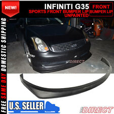 06-07 Fit For Infiniti G35 Coupe Sports Bumper Front Lip Spoiler PU
