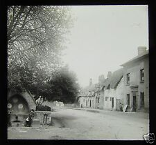 Glass Magic Lantern Slide STREET IN OR NEAR WARWICK C1900 ENGLAND PHOTO