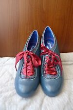 Poetic License The Estate of Things Blue Pumps Red Ribbon Size 38 / US 7 - NEW