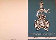 * NAVE -  Italia Navigazione Italian Line Crociera - Programma 1971 Michelangelo
