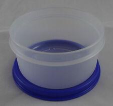 Tupperware B 15 Julchen 200 ml Dose Behälter Box mit Deckel Weiß Dunkelblau Neu