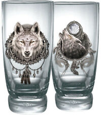 Spiral Direct WOLF DREAMS, Water Glasses - Set of 2|Wolf|Mystical|Celtic