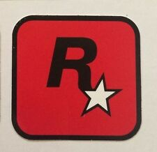 Rare Red Rockstar Games Sticker - Official Promotional Merchandise