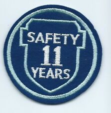Greyhound Bus, driver patch, 11 Safety Years. 3 inch diameter