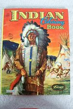 Saalfield SIOUX INDIAN CHIEF tee pee 1960s coloring book comic character UNUSED
