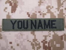 Green Chest Tapes Custom name Tapes ARMY NAVY SEAL DELTAEmbroidery Patch