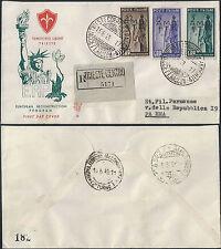 1949 Trieste A E.R.P. Venetia FDC raccomandata Cat. Sass. n. 43/45 € 487,50
